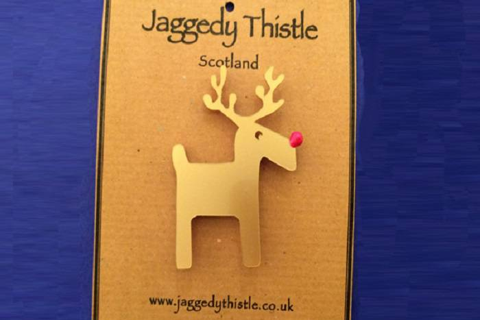 Jaggedy Thistle acrylic jewellery