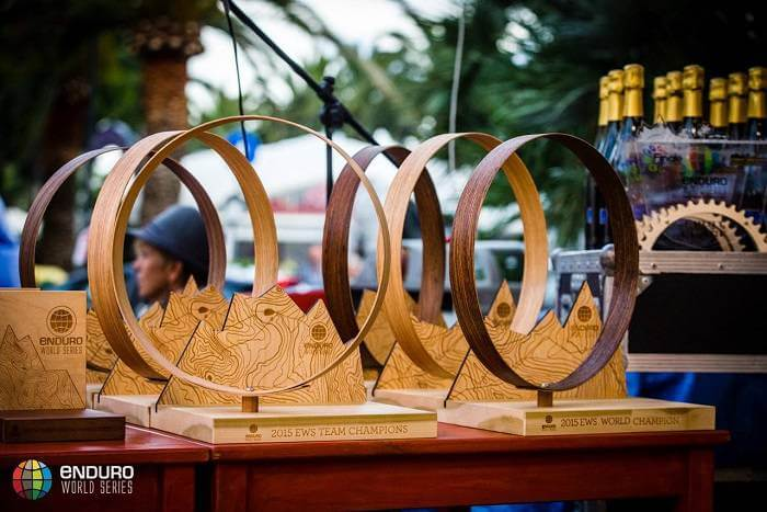 components for Enduro World Series trophies
