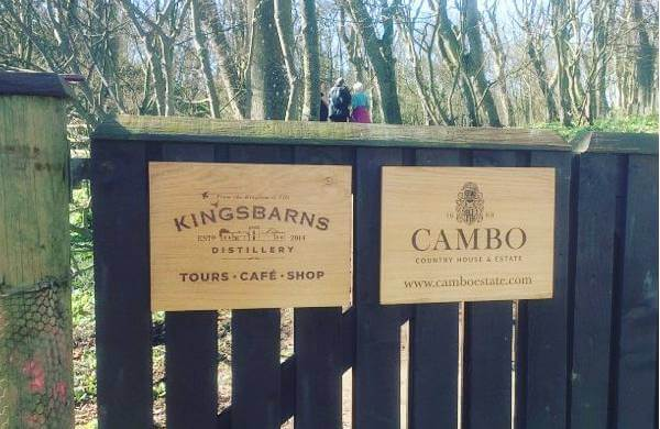 Kingsbarns Distillery oak sign
