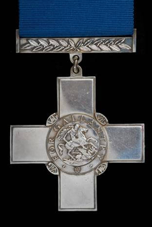 Richard Moore's George Cross medal