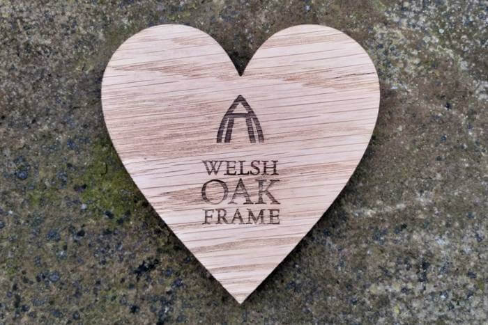 Branded coasters for Welsh Oak Frame