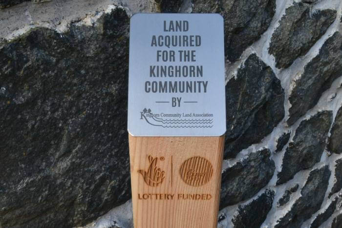 Waymarking posts for Kinghorn Creative
