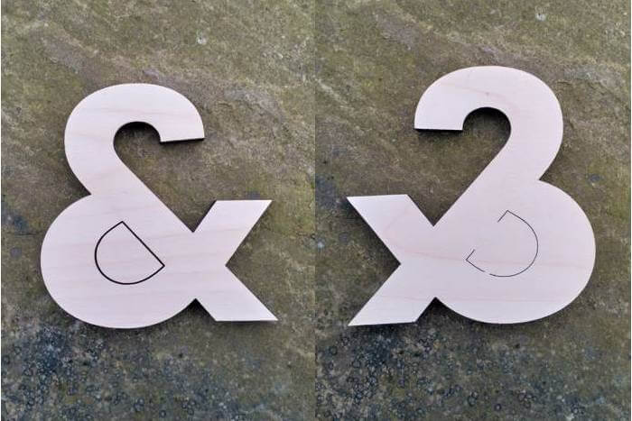 laser cutting and engraving knots in wood