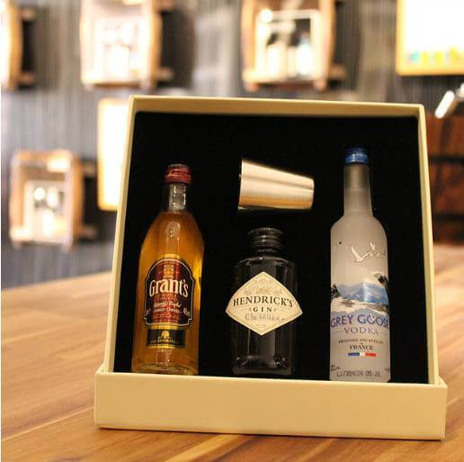 The Wee Couper of Fife's Grant's, Hendricks and Grey Goose gift set