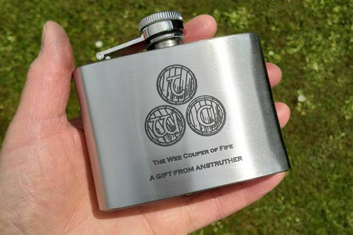 engraving stainless steel hip flasks