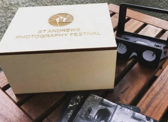 Stereo photograph exhibition boxes