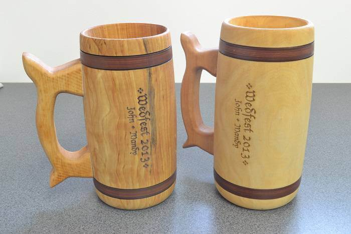 How to engrave wooden tankards