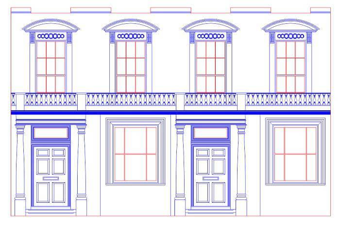 model facade detail