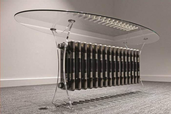 Perspex legs for designer table