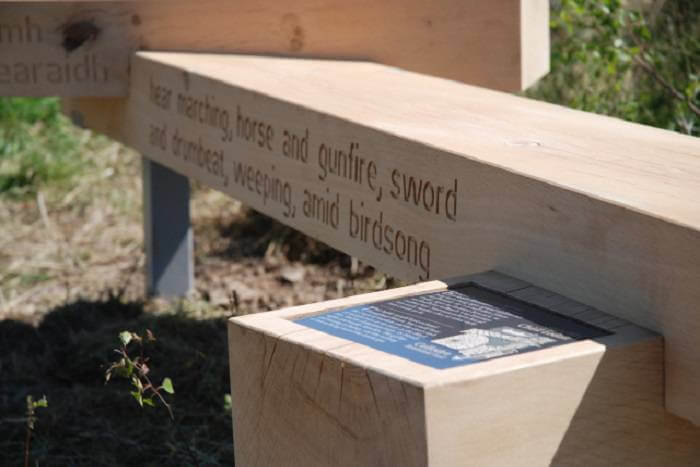 plywood stencils for oak Culloden benches