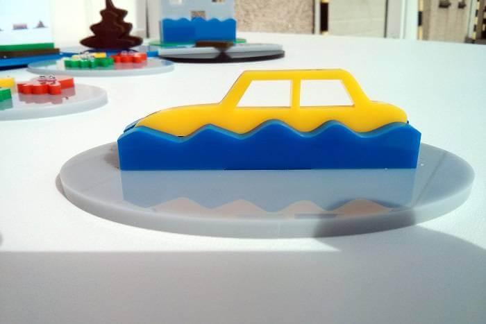 SEPA flood model laser cut car