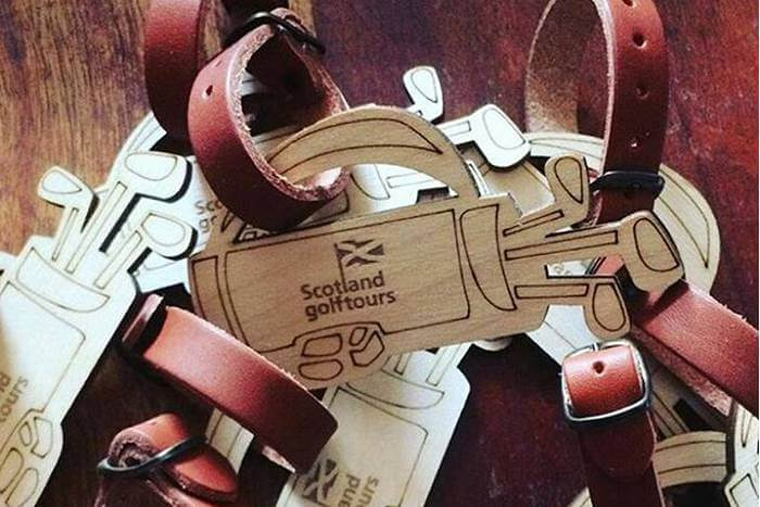 branded golf bag tags