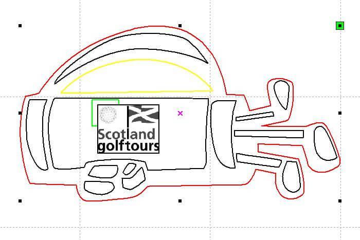 artwork for golf bag tag