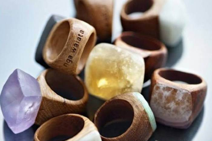 how to brand chunky wooden rings