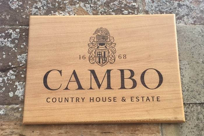 oak signs for Cambo Estate