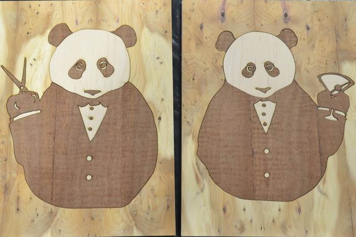 Panda and Sons marquetry