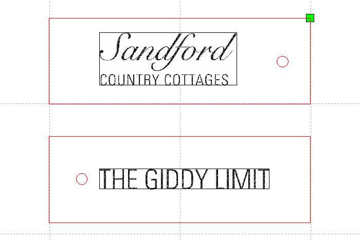 Sandford keyrings artwork