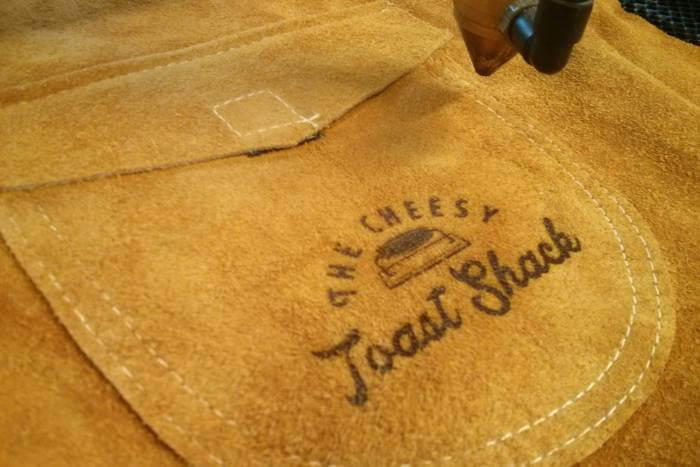 engraving leather welding aprons