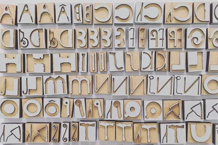 Alphabet rubber stamps for Studio MADE