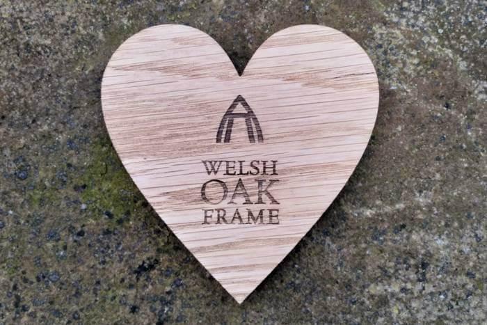 Branded coasters for Welsh Oak Frame