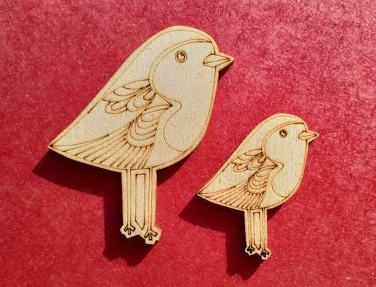 vector engraved robin decorations