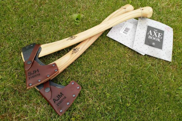 Personalised axes for Best Man gifts
