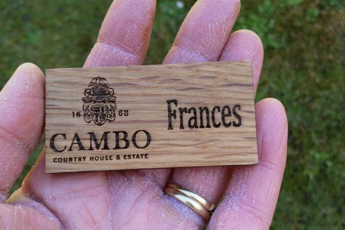 Making badges for Cambo Estate