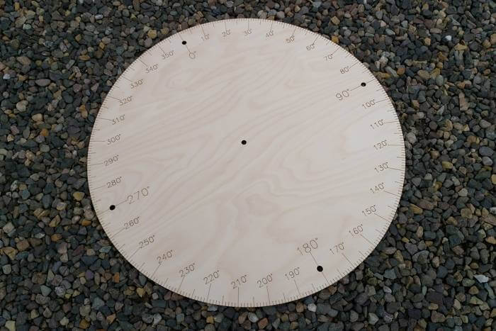 How to make giant protractors