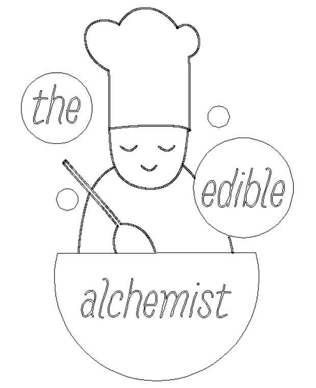 The Edible Alchemist logo artwork