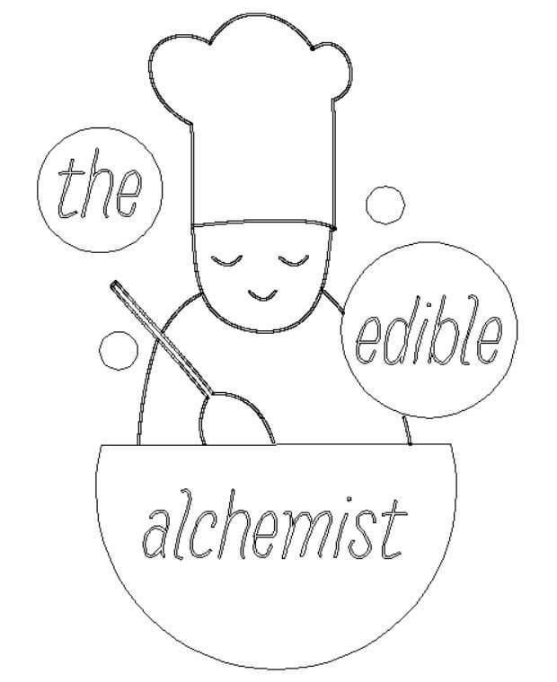 The Edible Alchemist logo artwork