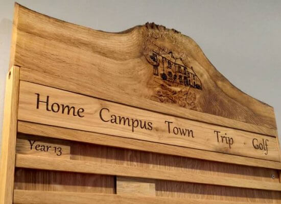 In/out boards for St Leonards school