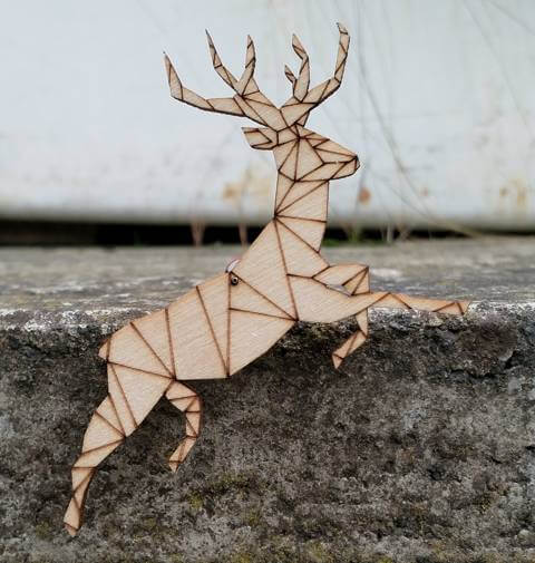 balancing stag decoration