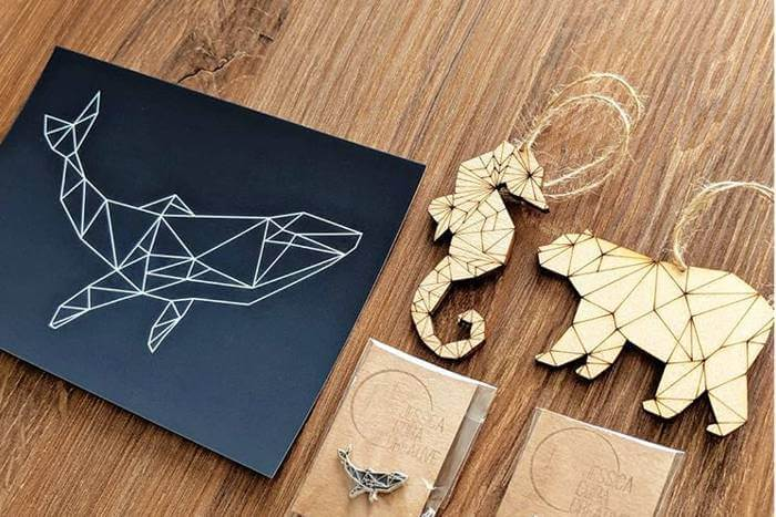 Adapting print artwork for laser cutting