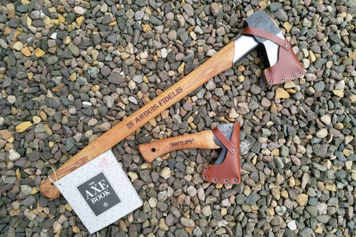 Personalised axes as leaving gifts