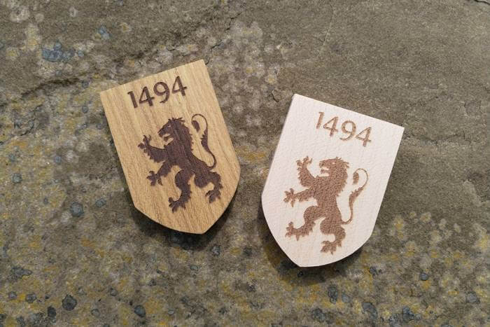 Engraved shields